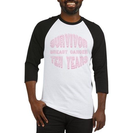 Survivor Breast Cancer Ten Years Baseball Jersey