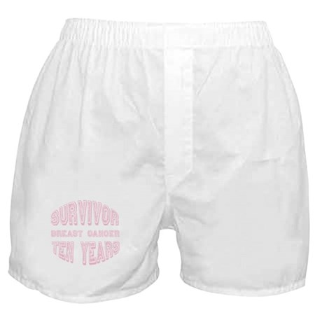 Survivor Breast Cancer Ten Years Boxer Shorts