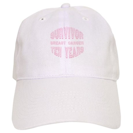Survivor Breast Cancer Ten Years Cap