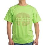 Survivor Breast Cancer Ten Years Green T-Shirt