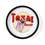Texas Honey Wall Clock