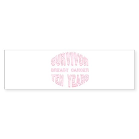 Survivor Breast Cancer Ten Years Bumper Sticker