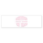 Survivor Breast Cancer Ten Years Bumper Sticker