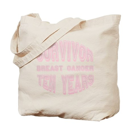 Survivor Breast Cancer Ten Years Tote Bag