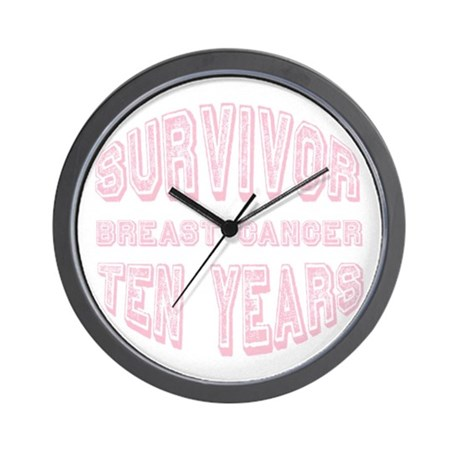 Survivor Breast Cancer Ten Years Wall Clock
