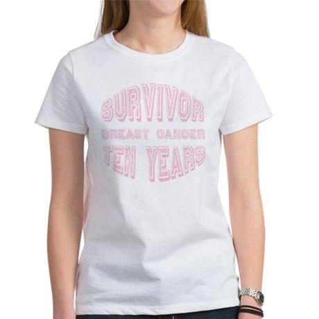 Survivor Breast Cancer Ten Years Women's T-Shirt