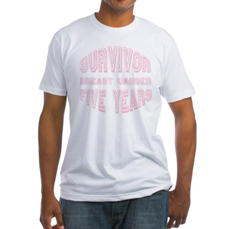Survivor Breast Cancer Five Years Fitted T-Shirt