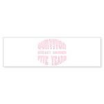 Survivor Breast Cancer Five Years Bumper Sticker