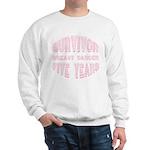 Survivor Breast Cancer Five Years Sweatshirt