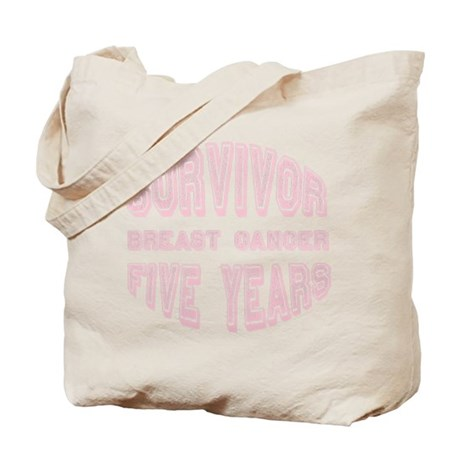 Survivor Breast Cancer Five Years Tote Bag