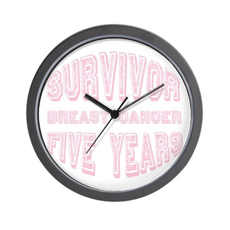 Survivor Breast Cancer Five Years Wall Clock