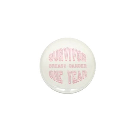 Survivor Breast Cancer One Year Mini Button