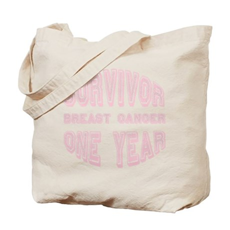 Survivor Breast Cancer One Year Tote Bag