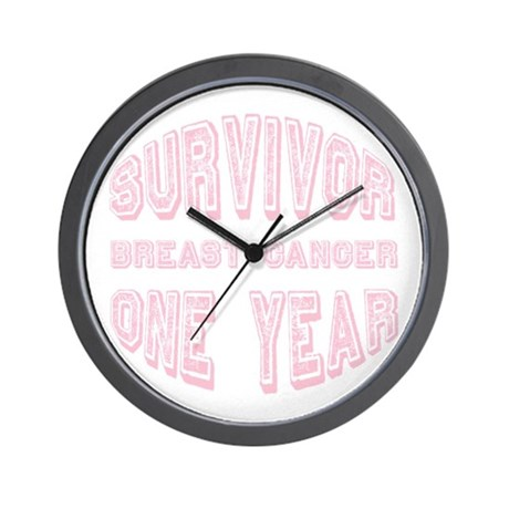 Survivor Breast Cancer One Year Wall Clock