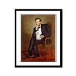 Lincoln/Poodle (W-Min) Framed Panel Print