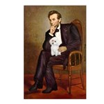 Lincoln/Poodle (W-Min) Postcards (Package of 8)