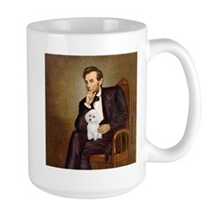 Lincoln/Poodle (W-Min) Large Mug