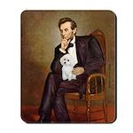 Lincoln/Poodle (W-Min) Mousepad