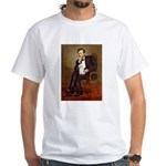 Lincoln/Poodle (W-Min) White T-Shirt