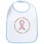 Pink Ribbon Breast Cancer Survivor Bib