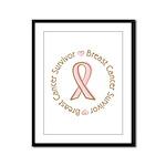 Pink Ribbon Breast Cancer Survivor Framed Panel Pr
