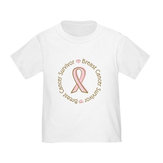 Pink Ribbon Breast Cancer Survivor Toddler