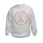 Pink Ribbon Breast Cancer Survivor Kids Sweatshirt