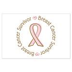 Pink Ribbon Breast Cancer Survivor Large Poster