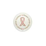 Pink Ribbon Breast Cancer Survivor Mini Button