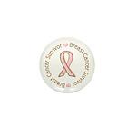 Pink Ribbon Breast Cancer Survivor Mini Button (10