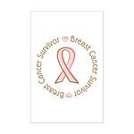 Pink Ribbon Breast Cancer Survivor Mini Poster Pri