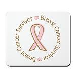Pink Ribbon Breast Cancer Survivor Mousepad