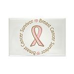 Pink Ribbon Breast Cancer Survivor Rectangle Magne