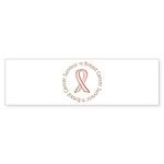 Pink Ribbon Breast Cancer Survivor Sticker (Bumper
