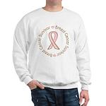 Pink Ribbon Breast Cancer Survivor Sweatshirt