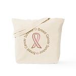 Pink Ribbon Breast Cancer Survivor Tote Bag