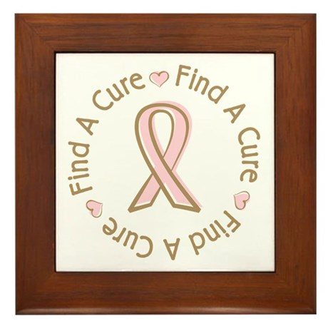 Breast Cancer Find a Cure Framed Tile