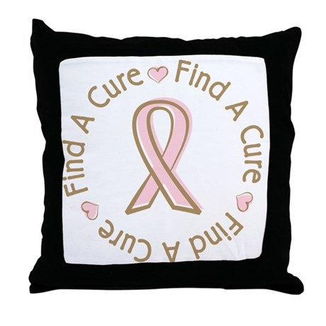 Breast Cancer Find a Cure Throw Pillow