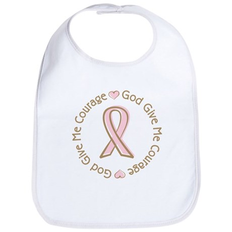 Breast Cancer Give me Courage Bib