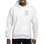 Peace Love Cure Breast Cancer Hooded Sweatshirt