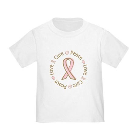 Peace Love Cure Breast Cancer Toddler T-Shi