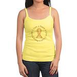 Peace Love Cure Breast Cancer Jr. Spaghetti Tank