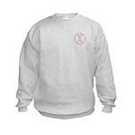 Peace Love Cure Breast Cancer Kids Sweatshirt