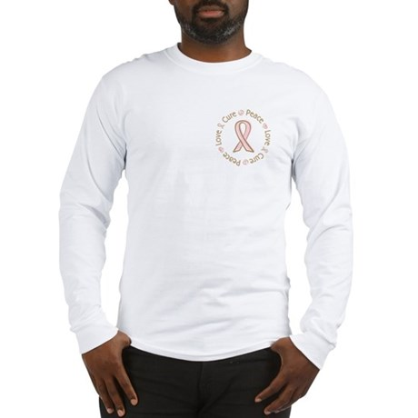 Peace Love Cure Breast Cancer Long Sleeve T-Shirt