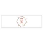 Peace Love Cure Breast Cancer Sticker (Bumper 10 p
