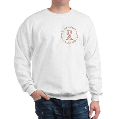 Peace Love Cure Breast Cancer Sweatshirt