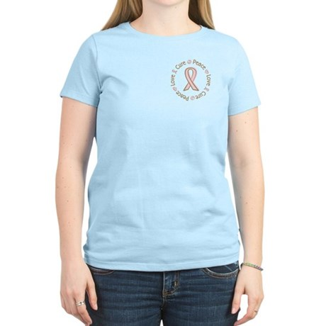 Peace Love Cure Breast Cancer Women's Light T-Shir