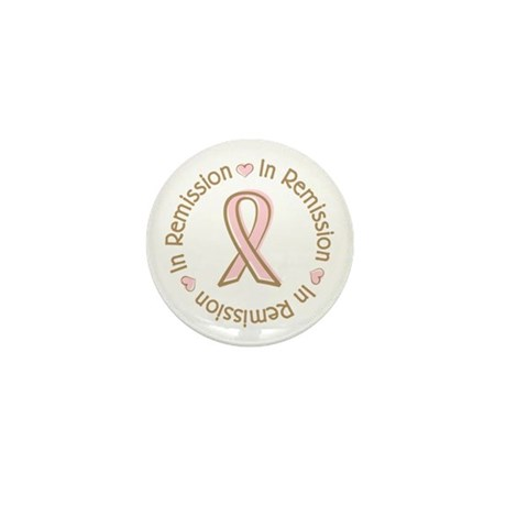 Breast Cancer In Remission Ribbon Mini Button (100