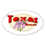 Texas Honey Oval Sticker