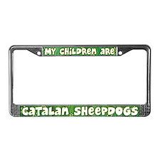 My Children Catalan Sheepdog License Plate Frame
